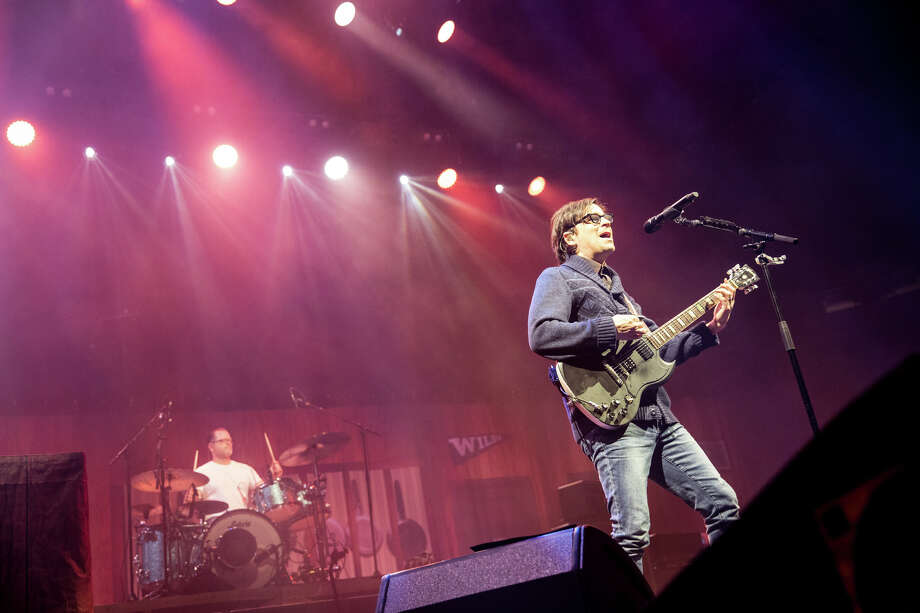 Rivers Cuomo and Patrick Wilson perform with Weezer at the Times Union Center on Thursday, March 14, 2019. The Pixies were also on the ticket. Photo: Trudi Shaffer Hargis/Times Union / 2018