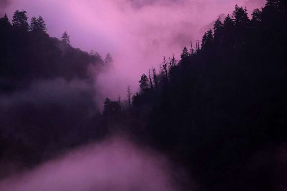Fog settles near sunset in Great Smoky Mountains National Park in Tennessee. Formed between 200 and 300 million years ago, the Great Smokies are some of the oldest mountains in the world. Photo: Washington Post Photo By Bonnie Jo Mount / The Washington Post