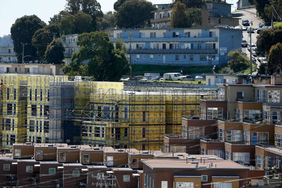 The Landing apartment complex is under construction at 22nd and Texas streets in the Dogpatch neighborhood of San Francisco, Calif. on Wednesday, March 13, 2019. Up to 20 percent of the tenants in the 263-unit complex will be allowed to rent their apartments or rooms through Airbnb.