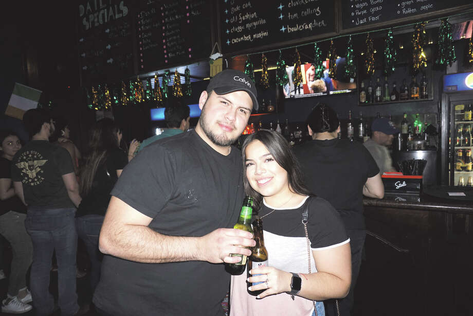 Cameron Joshua and Veronica Seca at Average Joe's Photo: Laredo Morning Times