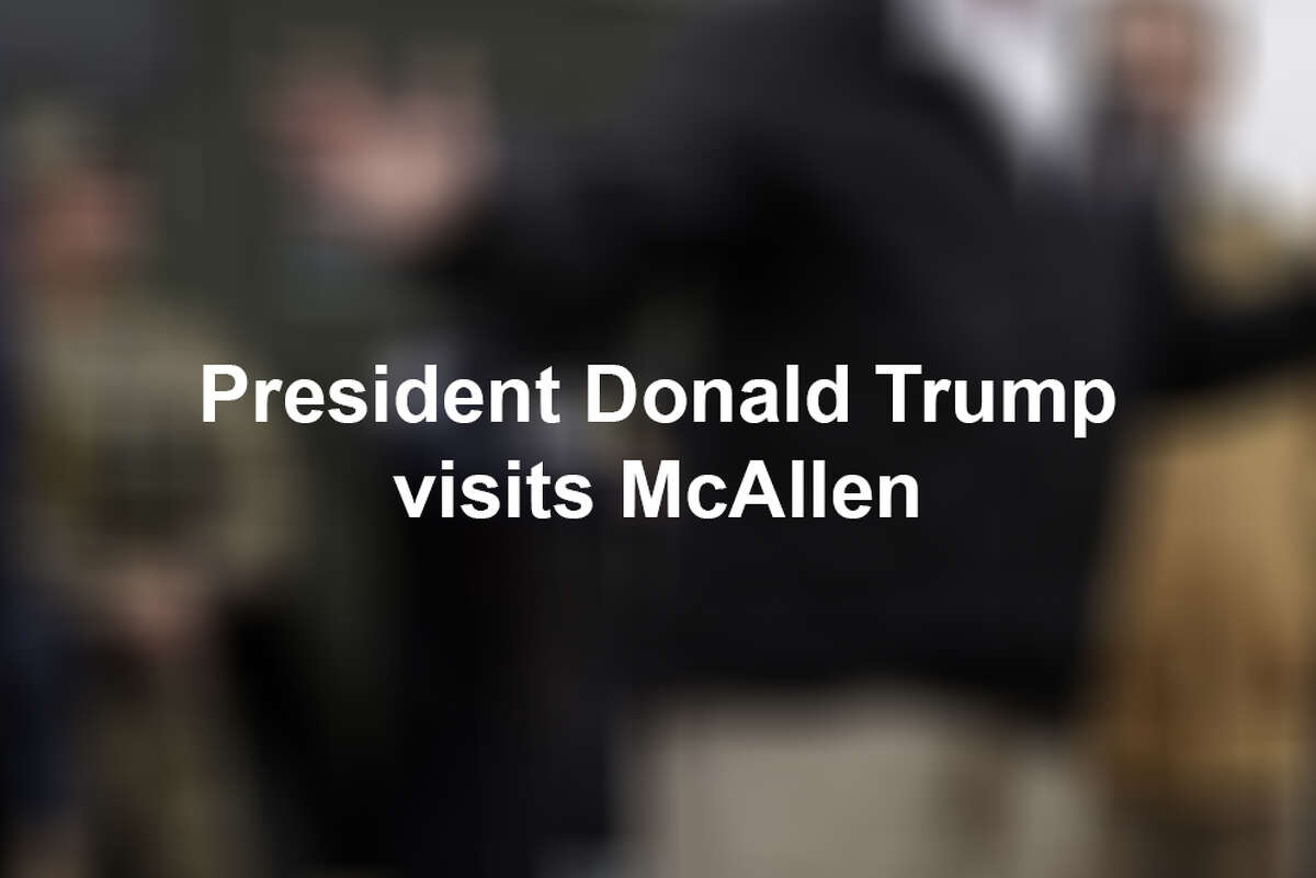 See photos from President Donald Trump's visit to McAllen in January.