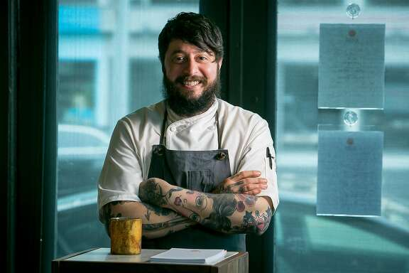 Chef Brett Cooper of Aster in San Francisco, Calif., is seen on June 6th, 2015.