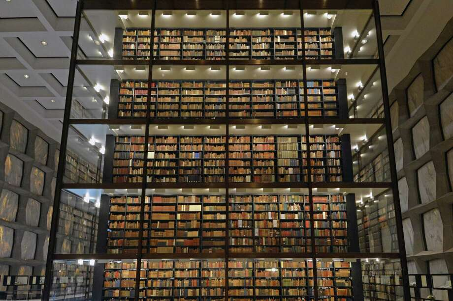 "Yale's architecturally innovative Beinecke Rare Book & Manuscript Library houses special exhibits, collection items such as an original Gutenberg Bible and James Audubon's drawings from ""The Birds of America."" Photo: Beinecke Library, Yale University / Beinecke Library, Yale University"