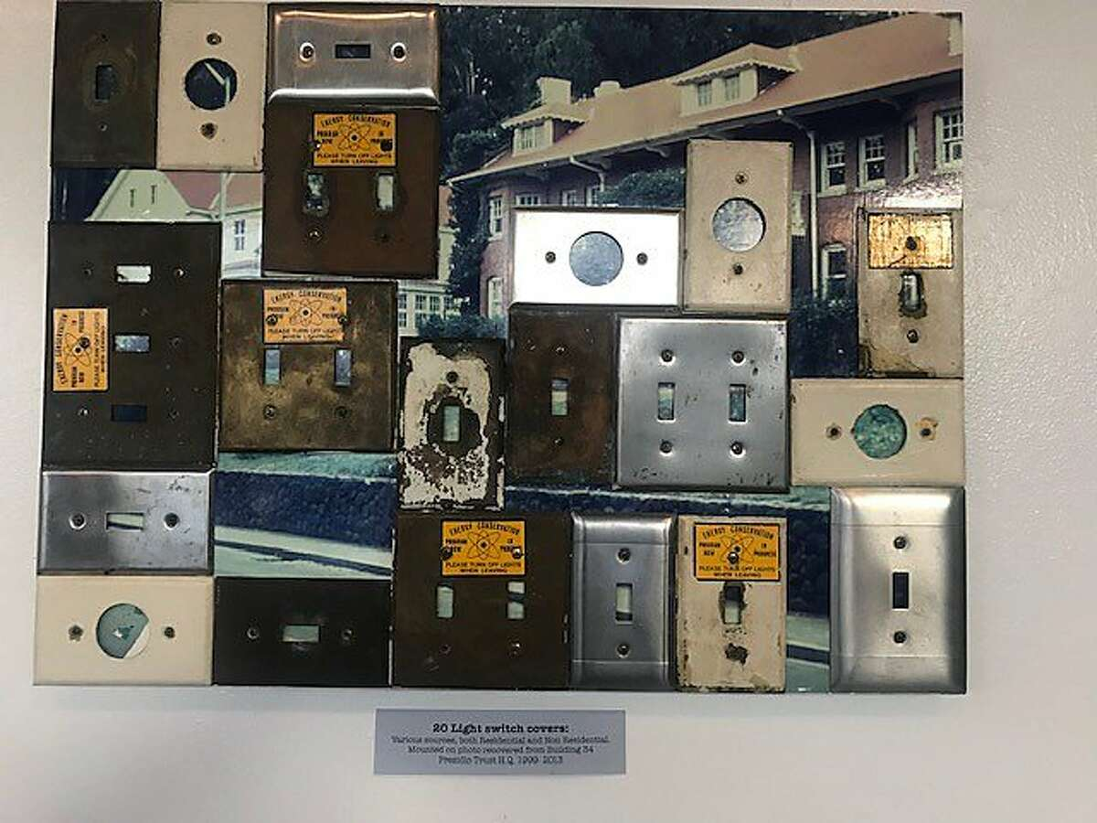 Light switch covers from the Presidio, in '20' exhibition