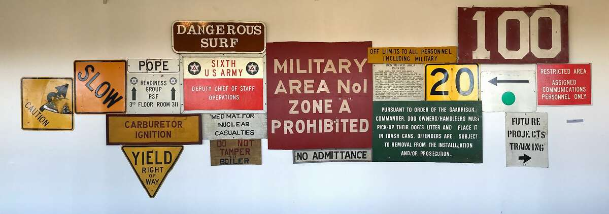 Signs from around the Presidio, in '20' exhibition