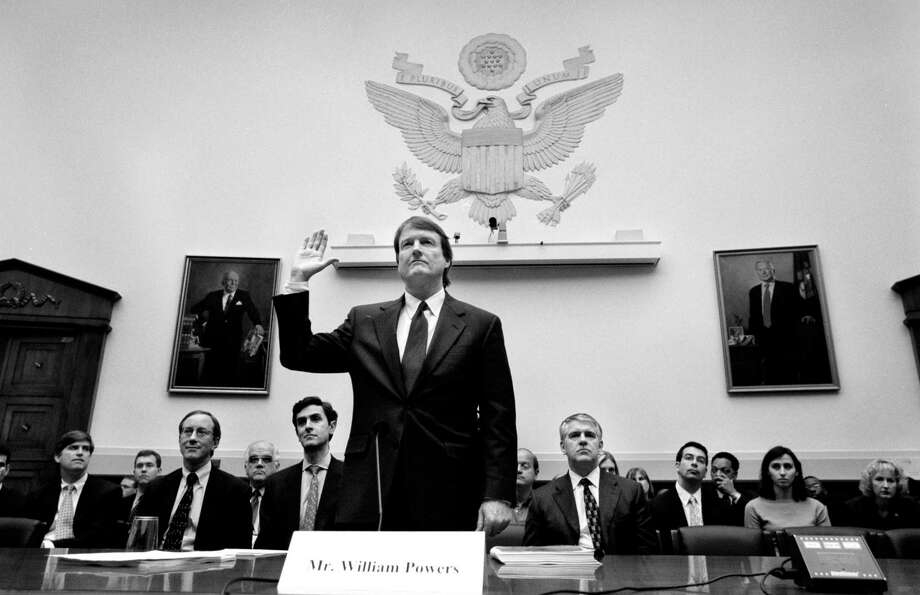 William C. Powers Jr. appears before a congressional committee in 2002. Photo: Washington Post Photo By Dudley M. Brooks / The Washington Post