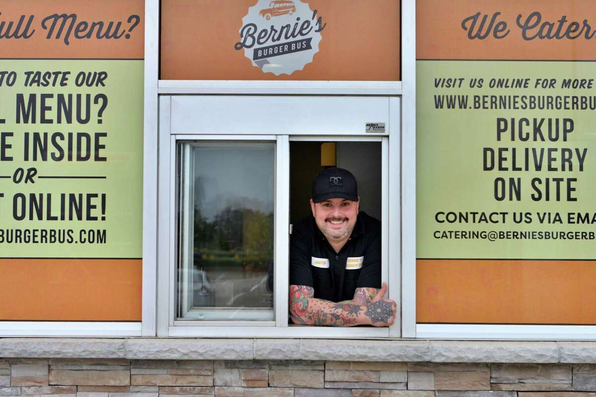 Justin Turner is the owner of Bernie's Burger Bus. His new restaurant in Missouri City is the first Bernie's with a drive-through window.
