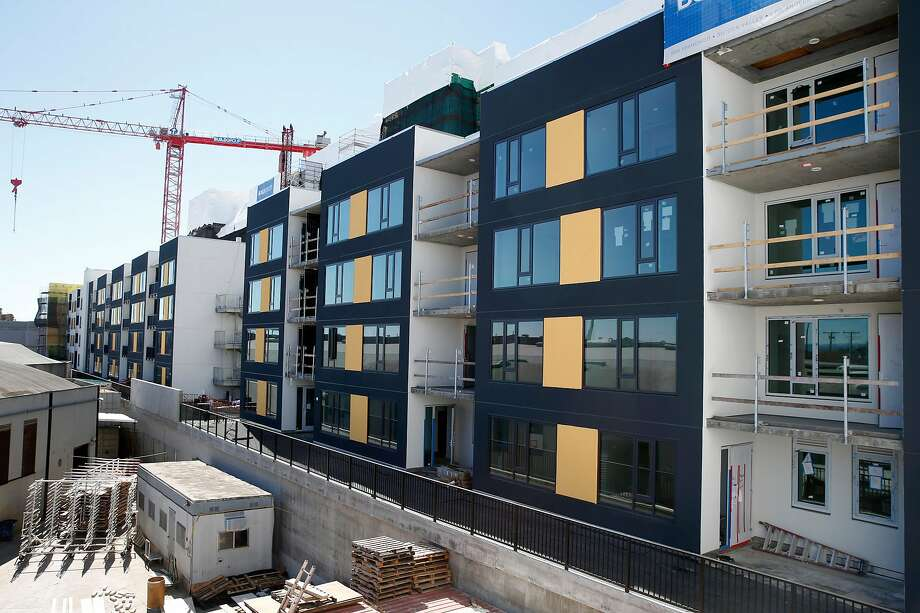 Construction is nearing completion on the first phase of The Landing apartment complex in the Dogpatch neighborhood of San Francisco, Calif. on Wednesday, March 13, 2019. Photo: Photos By Paul Chinn / The Chronicle