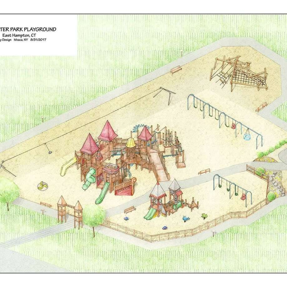 Designs for Seamster Park in East Hampton Photo: Contributed Photo