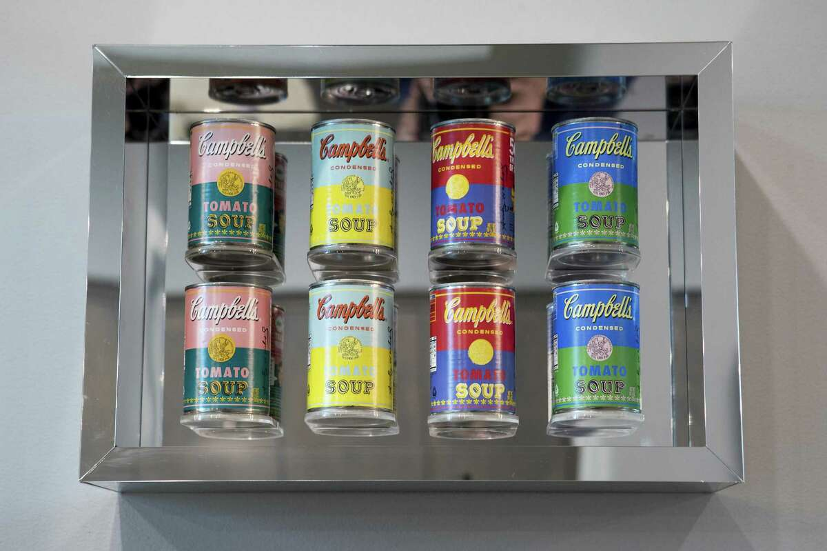 ART WORK: Andy Warhol-inspired soup cans