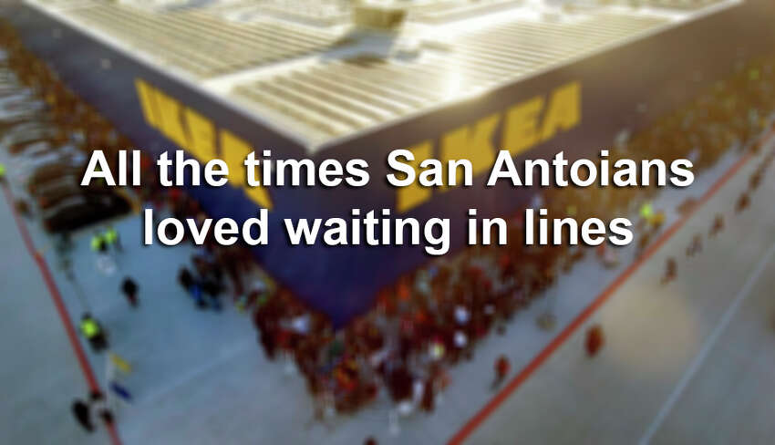 From Ikea's grand opening in 2019, to the annual wait for Maria's Tortillas during NIOSA, take a look at the times San Antonians didn't mind waiting to get what they want.