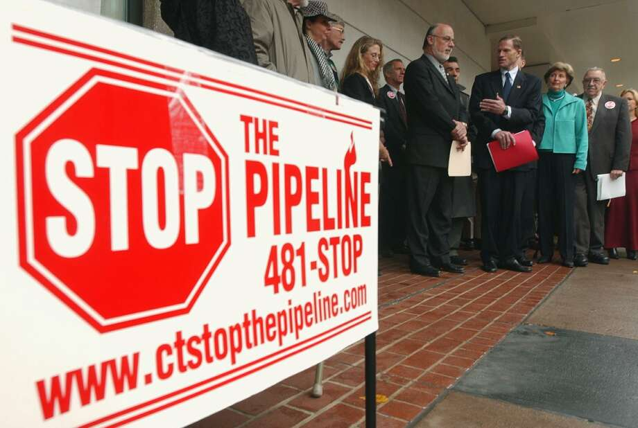A meeting objecting to a plan pipeline project in New Haven. Photo: File Photo
