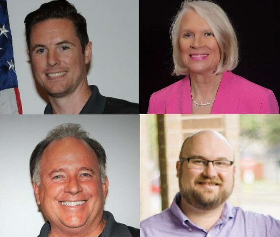 Andrew Mitcham (top left) is running for mayor of Jersey Village; Merrliee Beazley (top right) is a candidate for Jersey Village City Council, Position 2; Greg Holden (bottom left) is the incumbent candidate for Jersey Village City Council, Position 2; Bobby Warren (bottom right) is running for Jersey Village City Council, Position 3. Photo: Submitted