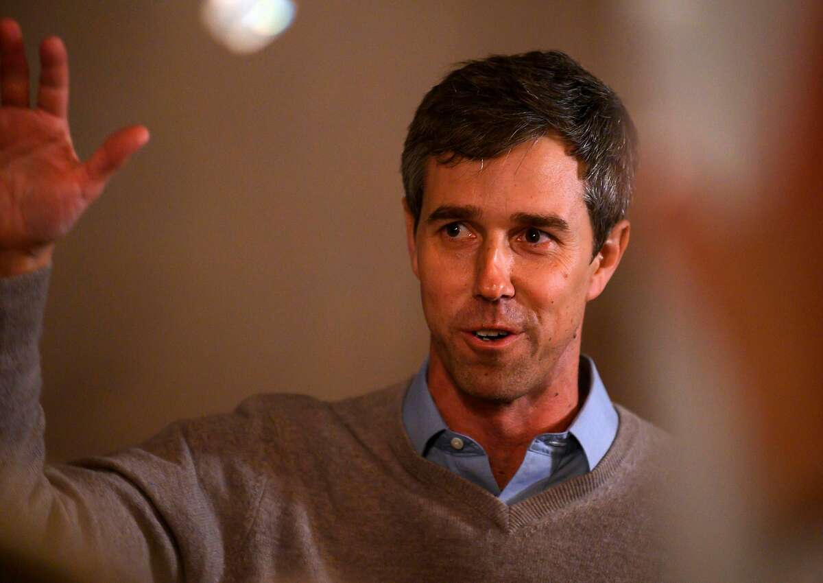 Former Texas Congressman and Democratic party Presidential Beto O'Rourke speaks to a crowd during a campaign stop in Muscatine, Iowa on March 14, 2019. - Beto O'Rourke, a skateboarding former punk rocker feted as one of the Democratic Party's rising stars, announced March 14, 2019, he is running for president -- joining a crowded field of candidates vying to challenge US President Donald Trump in 2020. (Photo by STEPHEN MATUREN / AFP)STEPHEN MATUREN/AFP/Getty Images