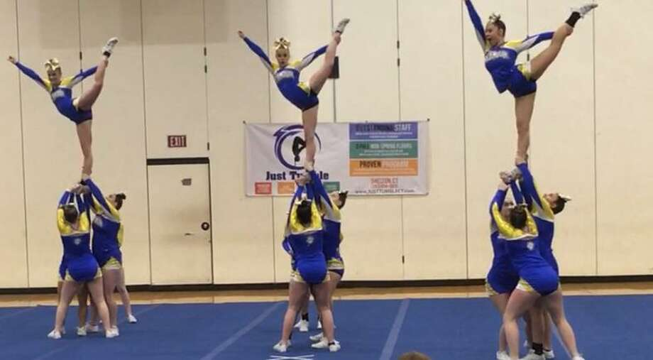The Seymour cheerleaders in action Photo: Contributed / Seymour School District