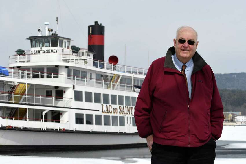 Lake George Village Mayor Bob Blais is pictured by the lake on Wednesday, March 13, 2019, in Lake George, N.Y. He is the state's longest tenured mayor. (Will Waldron/Times Union)