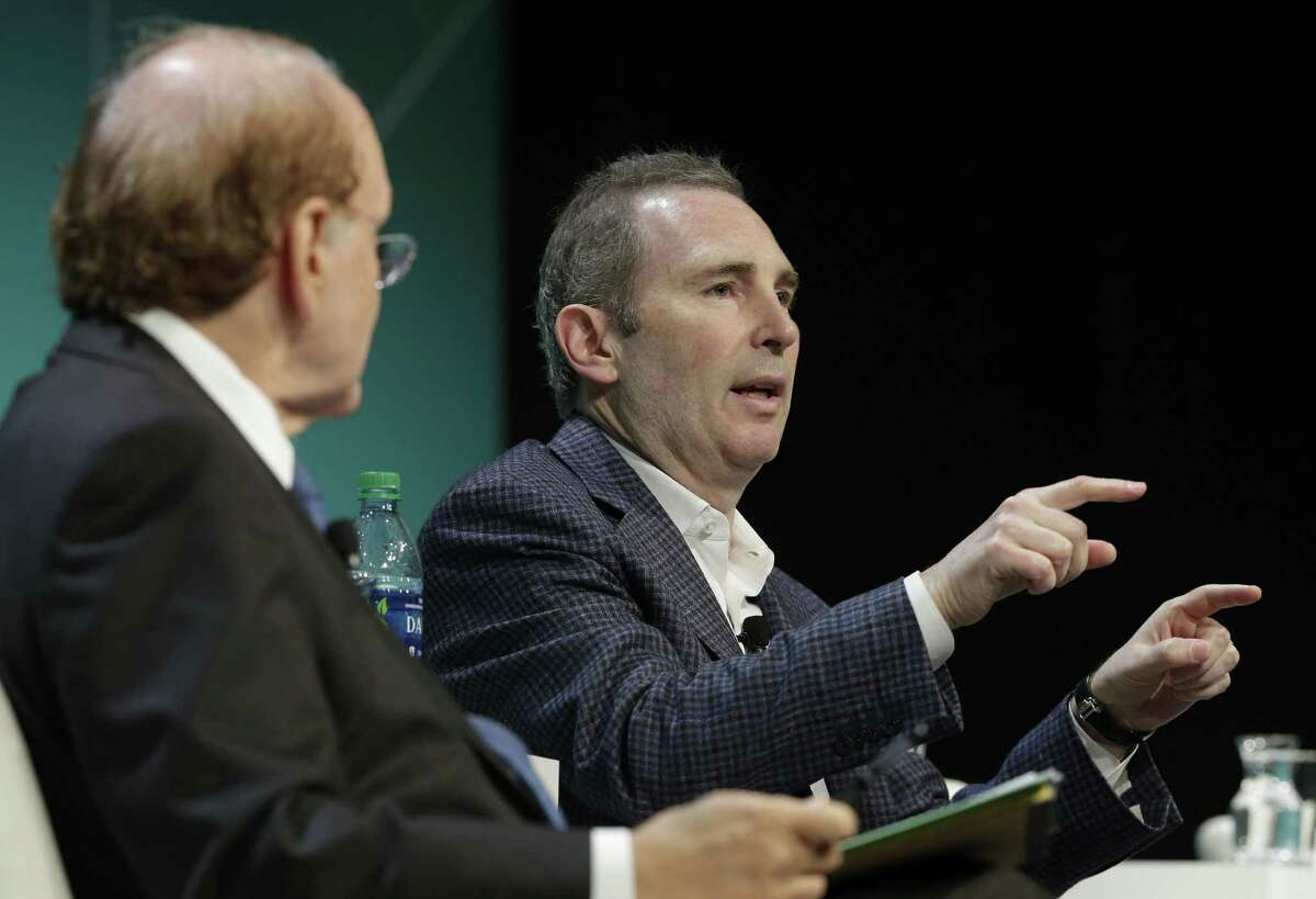 Andrew Jassy, CEO of Amazon Web Services, says energy companies have picked up the pace in switching to the cloud in the past two years. Jassy spoke during a Leadership Dialogue session on the first day of CERAWeek by IHS Markit at the Hilton Americas-Houston hotel Monday, Mar. 11, 2019 in Houston.