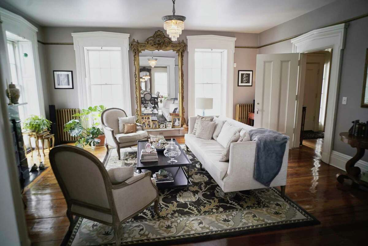 A view of the living room at the home of Stephanie Pettit and her husband on Tuesday, March 12, 2019, in Troy, N.Y. (Paul Buckowski/Times Union)