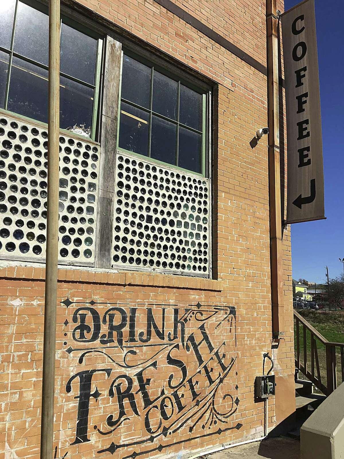 The original Shotgun House Coffee Roasters occupies a warehouse space on San Antonio's West Side.