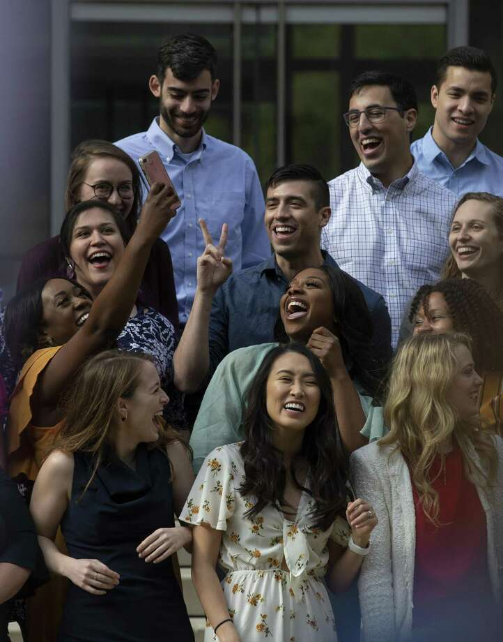 Baylor College of Medicine graduates take a selfie during Match Day Friday, March 15, 2019, in Houston. Photo: Godofredo A. Vasquez, Houston Chronicle / Staff Photographer / 2018 Houston Chronicle