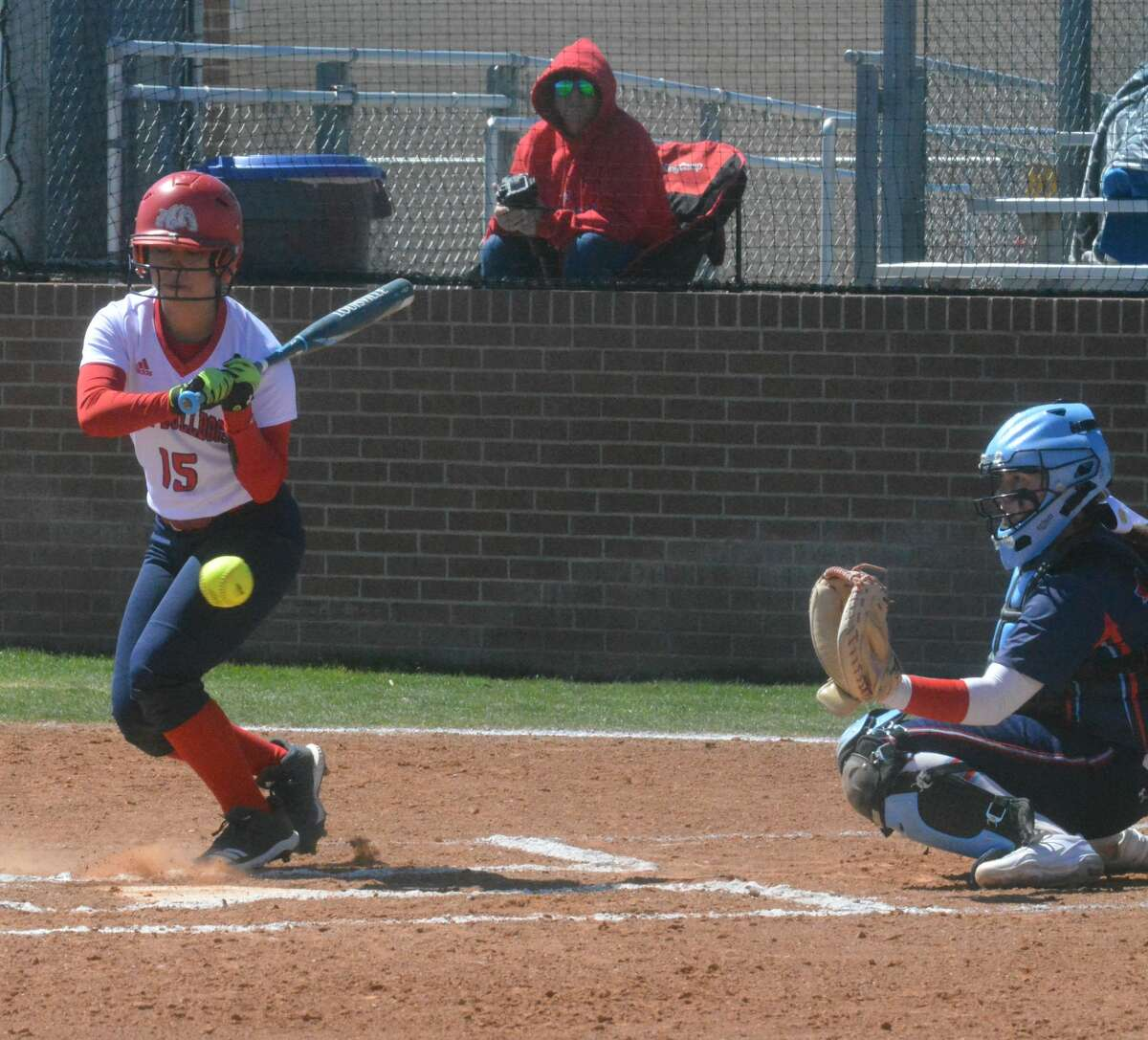The Monterey Lady Plainsmen shut out the Plainview Lady Bulldogs, 5-0, during District 3-5A softball action on Friday in Plainview.