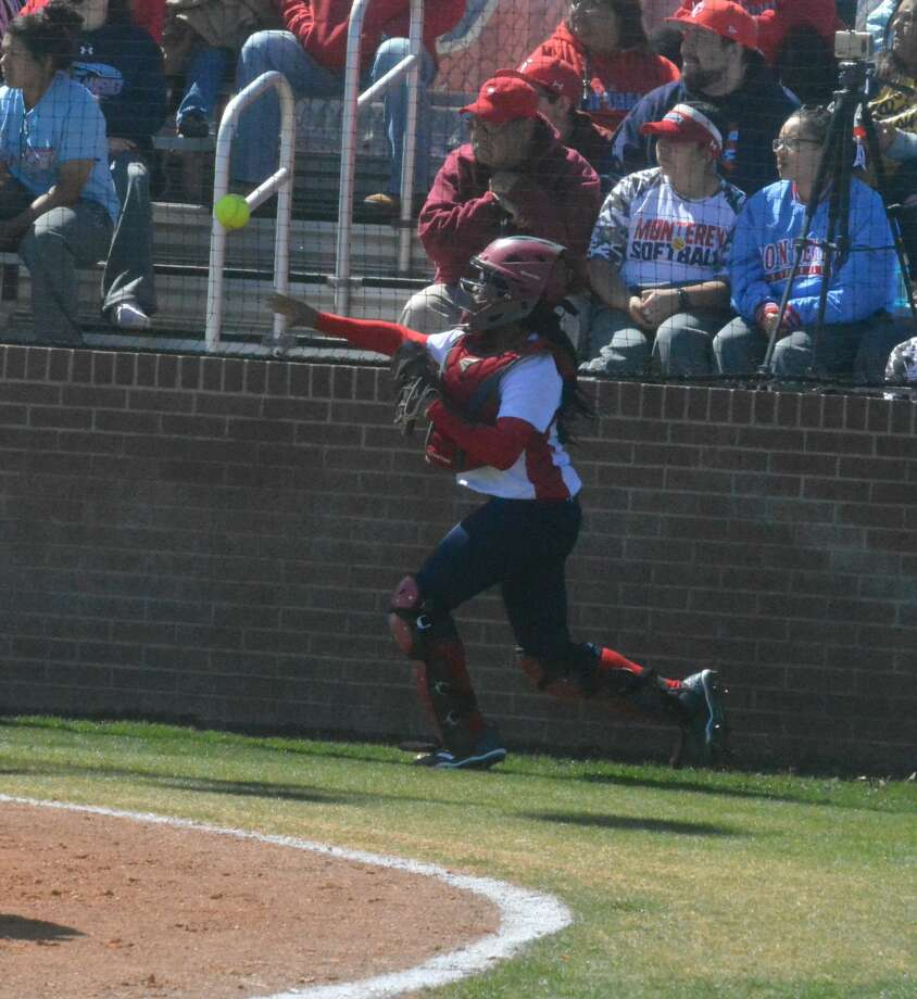 The Monterey Lady Plainsmen shut out the Plainview Lady Bulldogs, 5-0, during District 3-5A softball action on Friday in Plainview. Photo: Alexis Cubit/Plainview Herald
