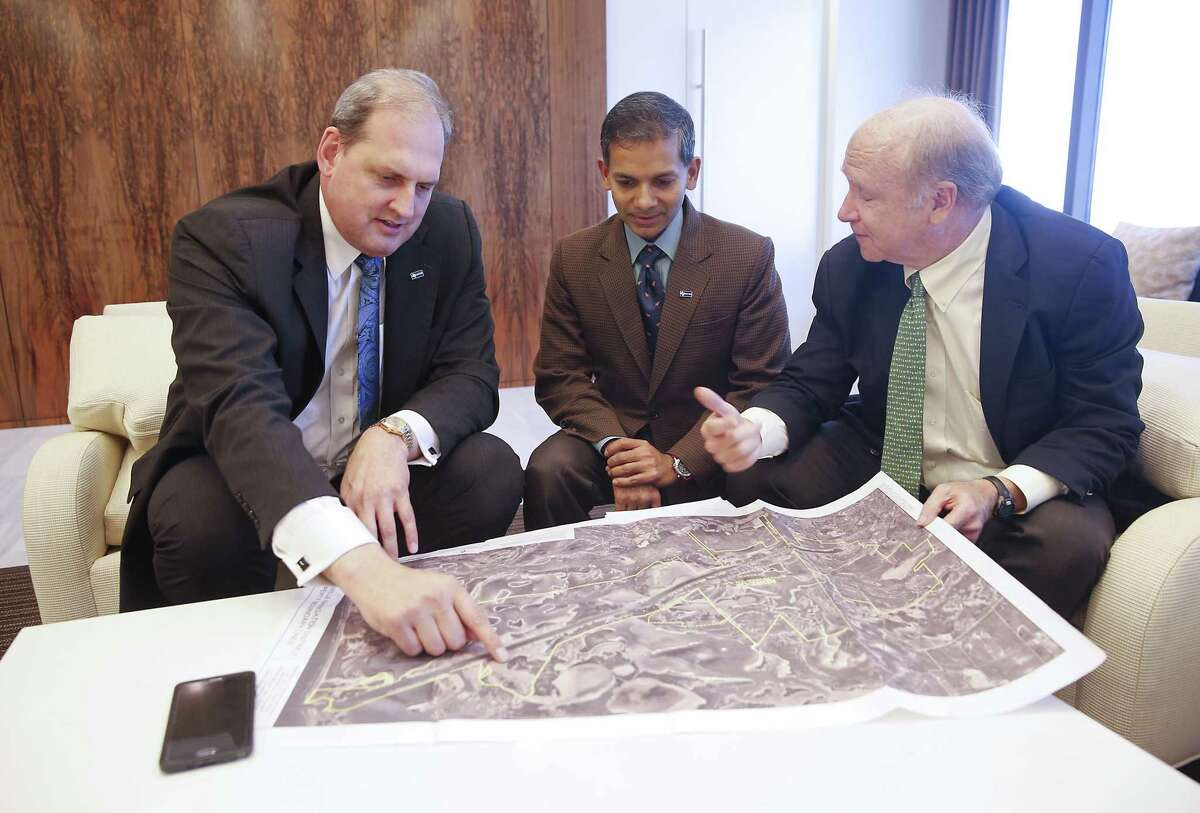 Langtry Meyer, Chief Operating Officer with Texas LNG Vivek Chandra , CEO of Texas LNG and William S. Garner, Jr. with Greenberg Traurig in Houston, TX on Friday, October 16, 2015.