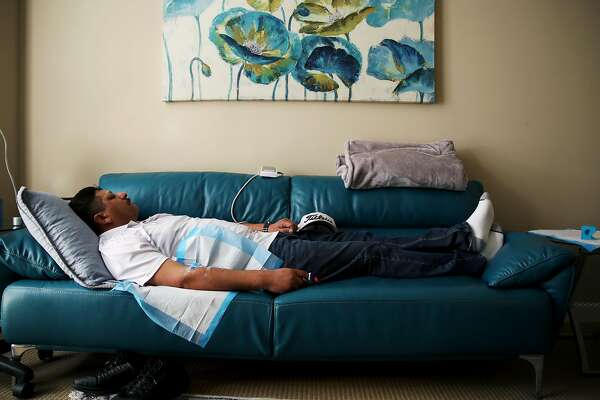 1of7Patient Ernie Ruiz Sleeps Under Observation By Dr. M. Rameen Ghorieshi  Who Administers The Drug Ketamine In Palo Alto.Photo: Photos By Yalonda M.  James ...
