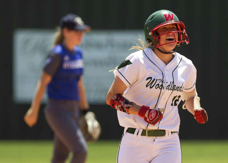 Skylar Stockton (12) of The Woodlands reacts after a home run last spring in the playoffs. Photo: Jason Fochtman, Staff Photographer / Houston Chronicle / © 2018 Houston Chronicle