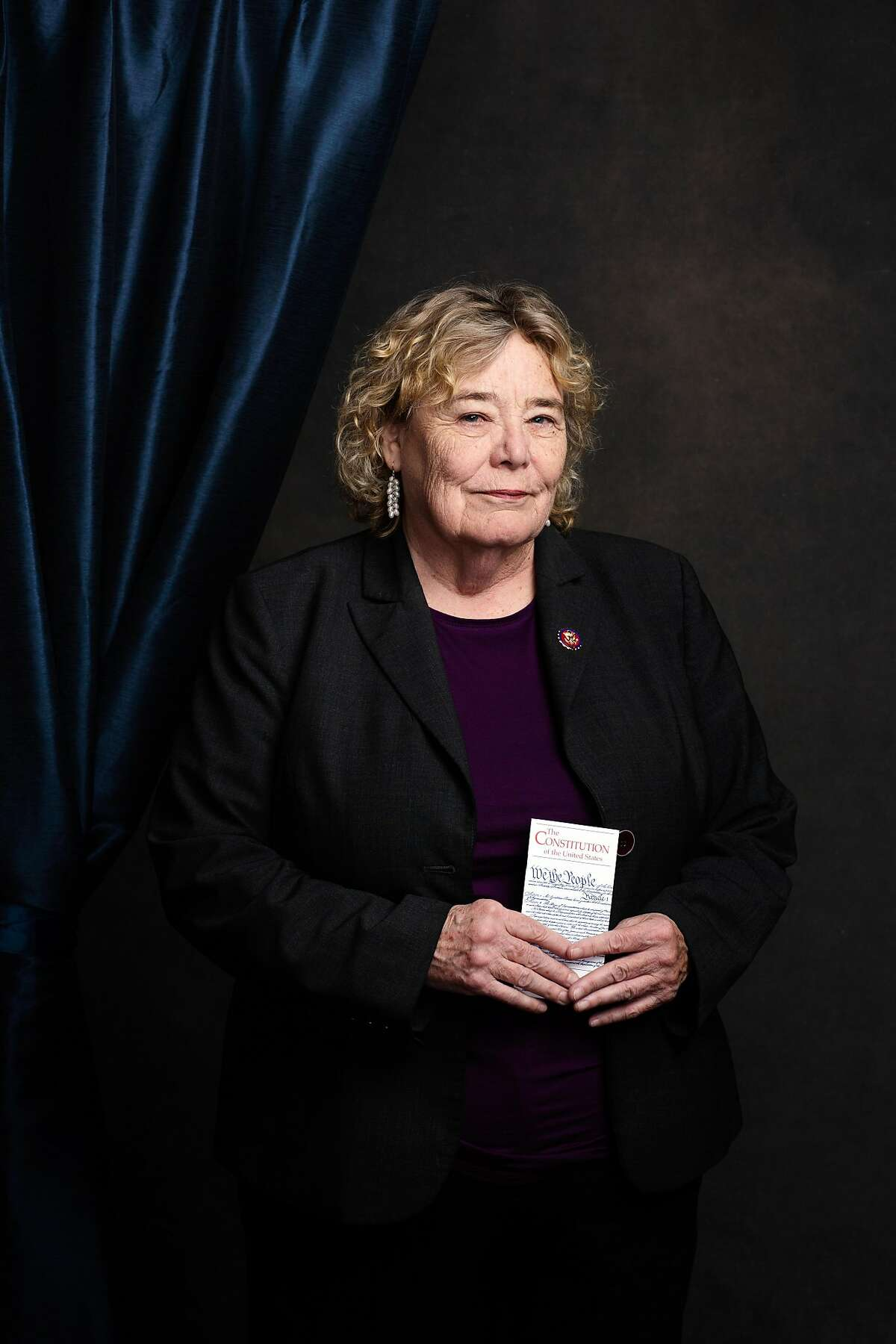 Rep. Zoe Lofgren (D-Calif.) poses for a portrait in Washington on Jan. 3, 2019. Just over 100 years ago, the first woman was sworn into Congress. Now a record 131 women are serving in the Legislature. (Elizabeth D. Herman/The New York Times)
