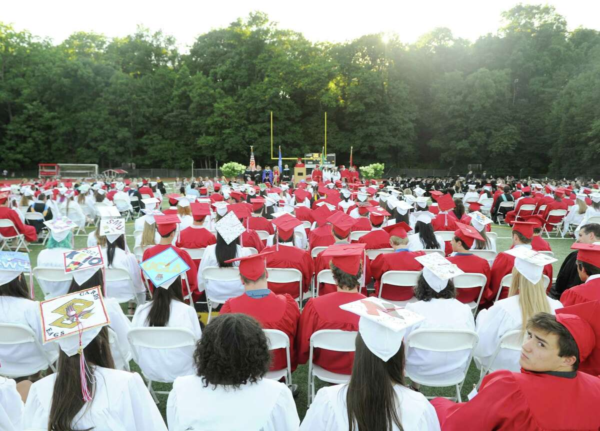 Photos from the Greenwich High School 2017 commencement ceremony at Greenwich High School in Greenwich, Conn. Tuesday, June 20, 2017.