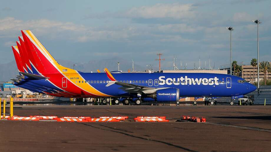 FILE — A group of Southwest Airlines Boeing 737 MAX 8 aircraft sit on the tarmac at Phoenix Sky Harbor International Airport on March 13, 2019 in Phoenix, Arizona. The United States has followed countries around the world and has grounded all Boeing 737 Max 8 aircraft following the crash of an Ethiopia Airlines 737 Max 8.  (Photo by Ralph Freso/Getty Images) Photo: Ralph Freso, Getty Images