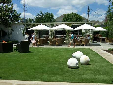 The lawn and patio at Tiny's No. 5. October 2011