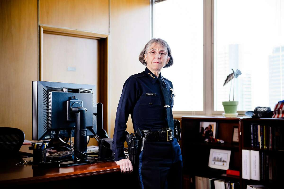 Oakland Police Chief Anne Kirkpatrick poses for a portrait in her office at OPD headquarters in Oakland, Calif, on Friday, March 15, 2019.