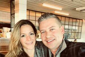 Todd Taylor and his fiance Daniela Balzano. Taylor, an investment banker from Guilford purchase 9 commercial buildigs near the town Green for $8.1 million recently. Taylor wasn't looking to buy the complex at first; he was only looking for a place for Balzano's business, Water Street Jewelers.