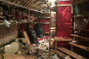 Some portions of the Christmas House are nearly packed up, but there are still hundreds of items left to be removed by Monday.