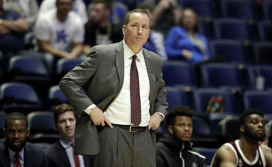 Texas A&M head coach Billy Kennedy watches in the second half of an NCAA college basketball game against Mississippi State at the Southeastern Conference tournament Thursday, March 14, 2019, in Nashville, Tenn. Mississippi State won 80-54. Photo: Mark Humphrey, STF / Associated Press / Copyright 2019 The Associated Press. All rights reserved