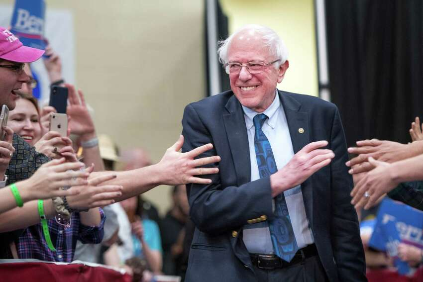 NORTH CHARLESTON, SC - MARCH 14: 2020 Democratic presidential candidate U.S. Sen. Bernie Sanders (I-VT) greets the crowd at the Royal family Life Center on March 14, 2019 in North Charleston, South Carolina. Sanders received 26 percent of the South Carolina Democratic vote in the 2020 race, eventually losing the nomination to Hillary Clinton. (Photo by Sean Rayford/Getty Images)