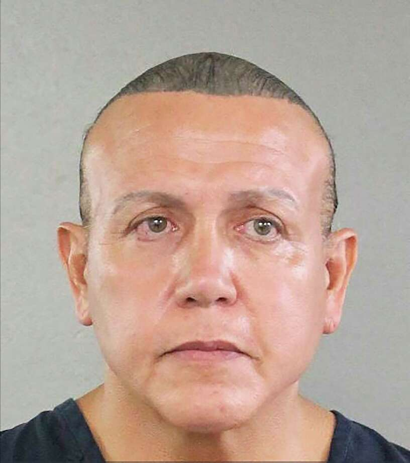 A photo provided by the Broward County Sheriff's Office of Cesar Sayoc Jr., the man suspected of mailing a dozen parcel bombs to critics of President Donald Trump in 2018. Sayoc, a Trump supporter who prosecutors say mailed pipe bombs to prominent Democrats, has decided to enter a guilty plea, according to a court docket. (Broward County Sheriff's Office via The New York Times) -- FOR EDITORIAL USE ONLY -- Photo: BROWARD COUNTY SHERIFF'S OFFICE / AFP or licensors