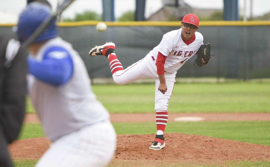 Bryan Aguilar got the win on the mound as Martin defeated Cigarroa 9-6 on Friday. Photo: Danny Zaragoza /Laredo Morning Times / Laredo Morning Times