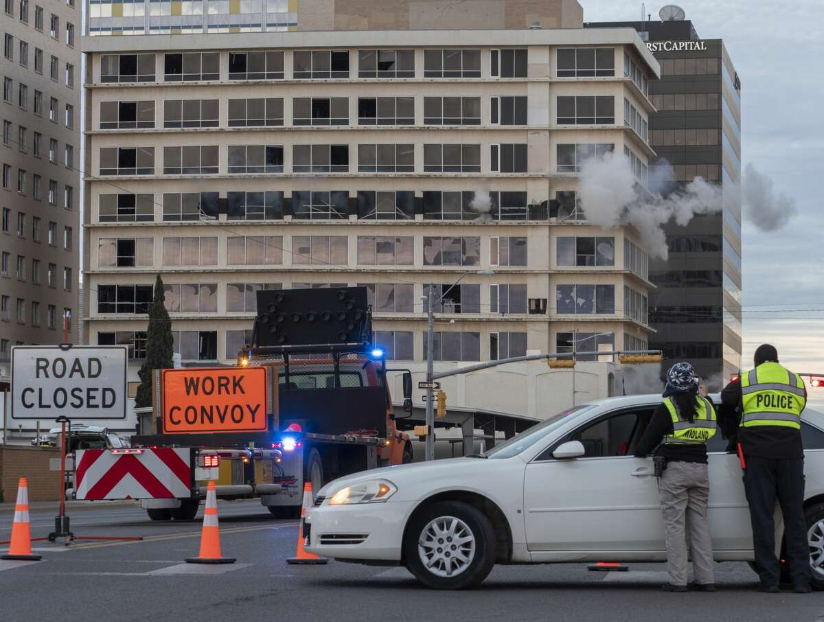 The Building of the Southwest is brought down 03/16/2019 morning as explosives blow out supports causing the building to fall on itself. Tim Fischer/Reporter-Telegram