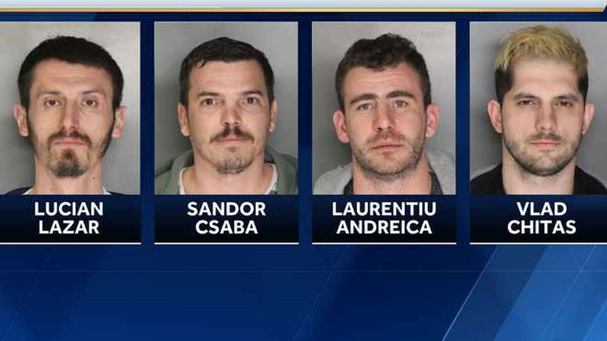 Four men were arrested and accused of running a ATM skimming operation since December 2018.