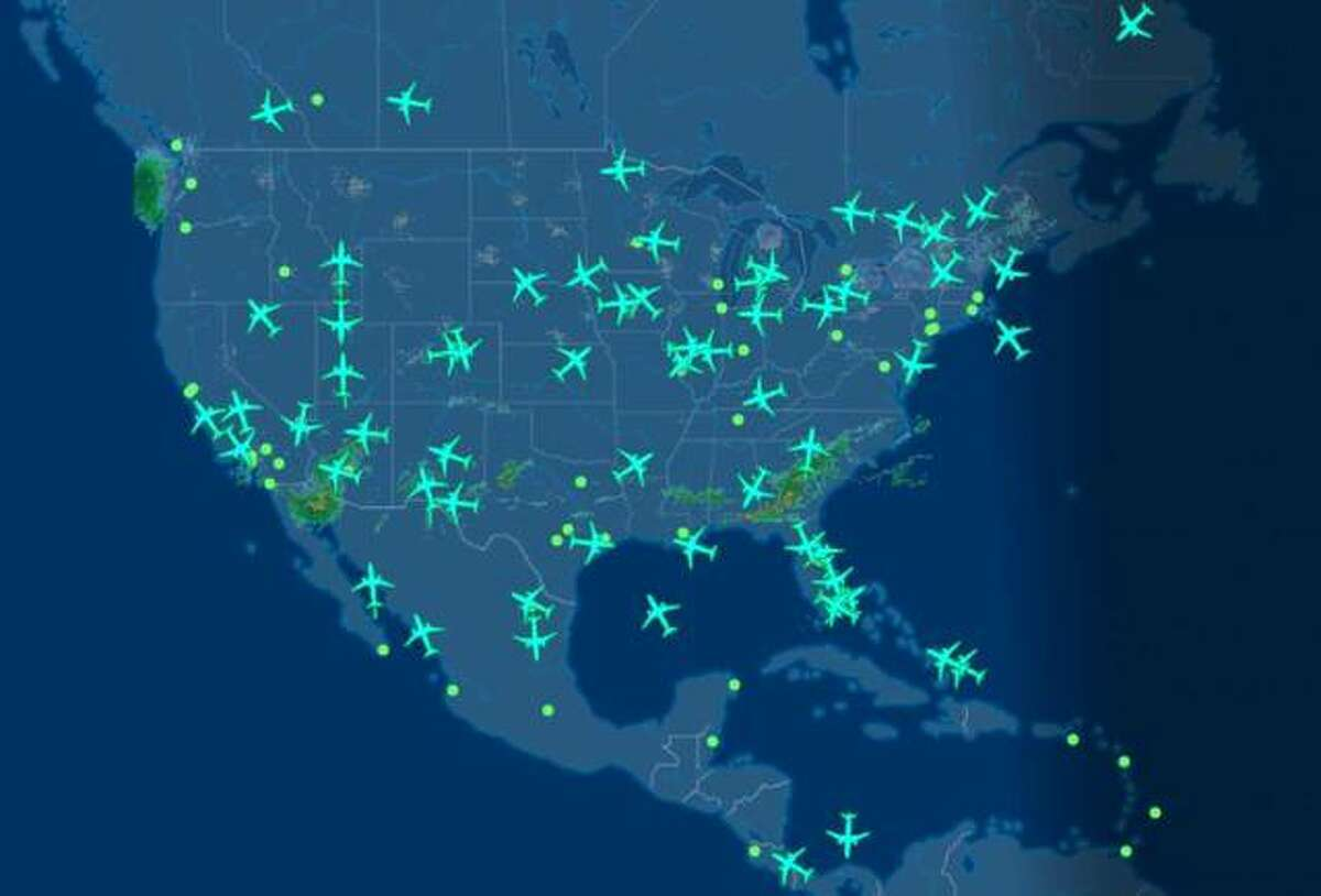 FlightAware's mapping feature captures all 737 MAX 8 aircraft flights.