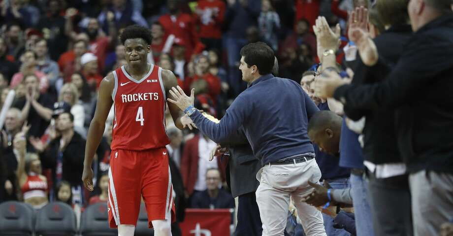 PHOTOS: Rockets game-by-game Houston Rockets forward Danuel House Jr. (4) high fives fans after a big three-pointer in the finals seconds during the second half of an NBA game at Toyota Center, Friday, March 15, 2019, in Houston.  Rockets won the game 108-102. Browse through the photos to see how the Rockets have fared in each game this season. Photo: Karen Warren/Staff Photographer
