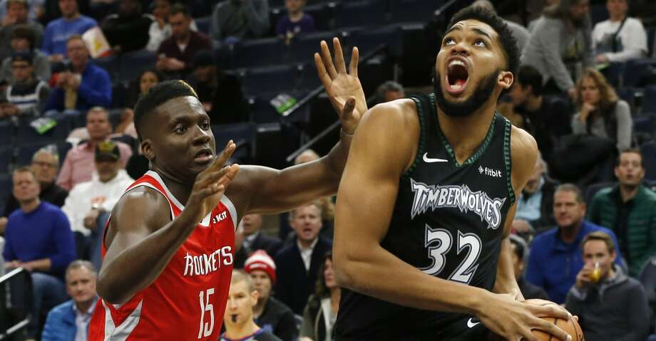 PHOTOS: Rockets game-by-game Minnesota Timberwolves' Karl-Anthony Towns, right, eyes the basket as Houston Rockets' Clint Capela of Switzerland defends in the first half of an NBA basketball game Monday, Dec. 3, 2018, in Minneapolis. (AP Photo/Jim Mone) Browse through the photos to see how the Rockets have fared in each game this season. Photo: Jim Mone/Associated Press