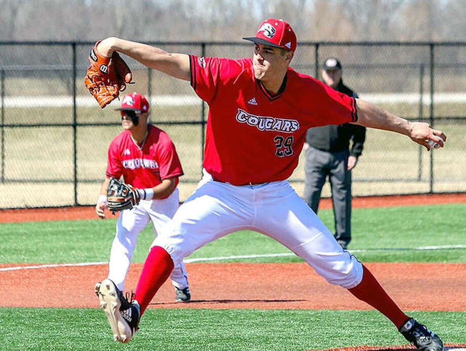 Pitcher David Llorens of SIUE pitched six shutout innings of three-hit baseball and struck out a career-best 10 hitters Saturday in a 9-3 victory over Southeast Missouri at SIUE. Photo: SIUE Athletics