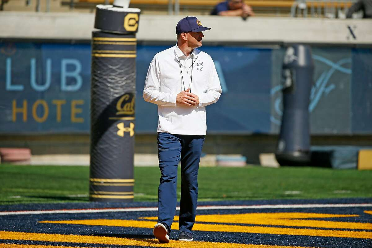 California Golden Bears head coach Justin Wilcox during the annual Cal Spring Football Game at California Memorial Stadium on Saturday, March 16, 2019, in Berkeley, Calif.