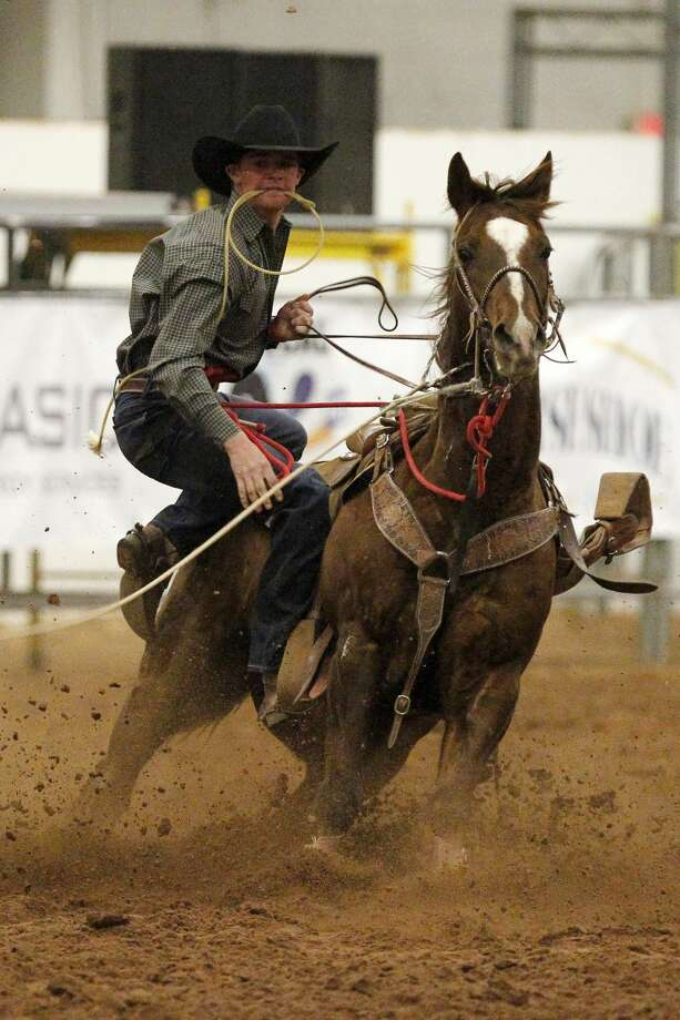 Tie Down Roping event of the Permian Basin Spring Stampede Pro Rodeo March 15, 2019, at Horseshoe Arena. James Durbin / Reporter-Telegram Photo: James Durbin / Midland Reporter-