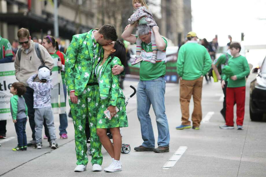 Scenes from Seattle's 48th annual St. Patrick's Day Parade in downtown Seattle Saturday, March 16, 2019. The parade began at Yesler Way and continued down 4th Avenue to Westlake Park. Photo: Genna Martin / seattlepi.com