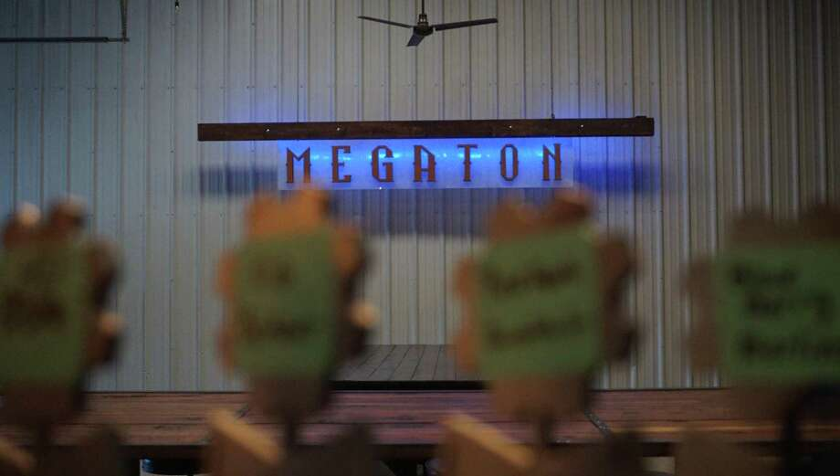"Megaton Brewery's atmosphere is inspired by science-fiction, steampunk, fallout and Bethesda's ""Fallout"" games. One of the owners, Chris Sarvadi, said he might invite game developers Tim Cain and Ken Levine in the future. Photo: Nguyen Le / Staff Photo"
